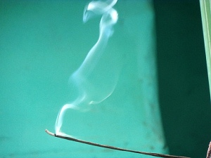 incense- usually frankincense is traditional