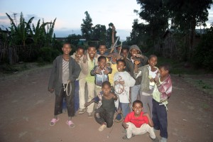Not in Gondar, but basically the same image all around, lots of youngins everywhere!