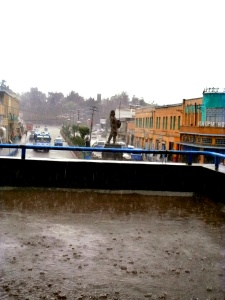 Tewodros on a rainy afternoon in Piazza