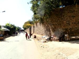 Part of the ancient city walls