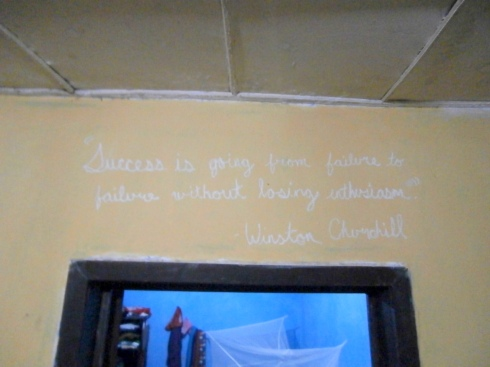 """Success is going from failure to failure without losing enthusiam"" Winston Churchill"