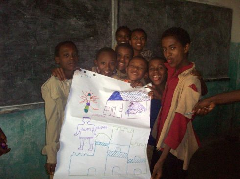 This poster was location specific- Malaria in Gondar! (hence the castles)