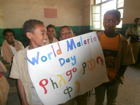 World Malaria Day in English and Amharic
