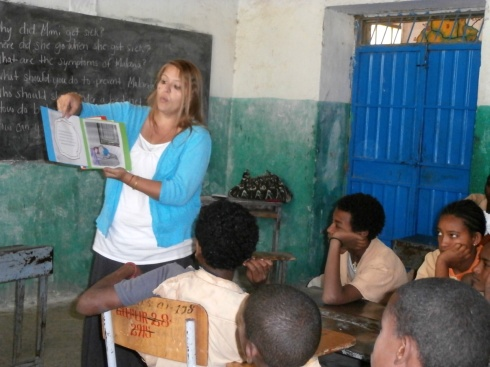 Got some help from Morgan, the English teacher – Peace Corps Ethiopia G7