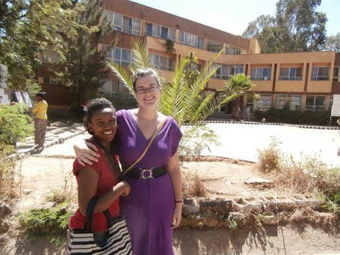 Aster and I at the Teacher's College