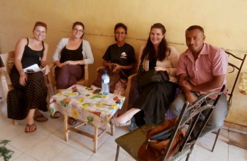 Doing site identification interviews with Peace Corps - buna break!