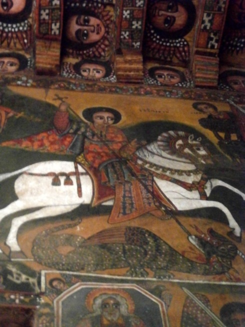 St. George killing the dragon- did not know there were dragons in Ethiopia