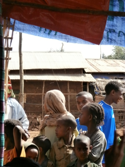 Kids in Anbesame, a small village about 2 hours south of Gondar