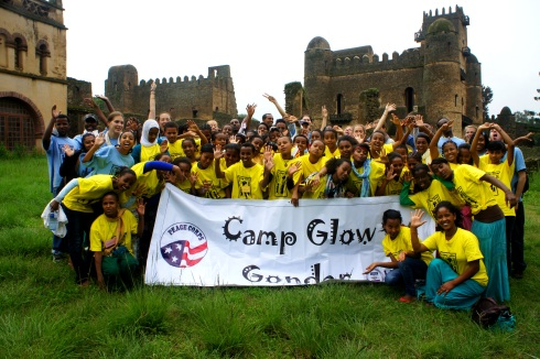 Group shot at Fasil Castle