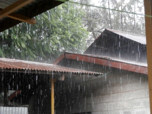 Rain and hail!