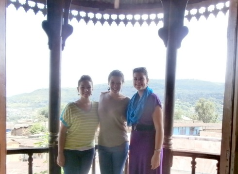Carmen, Kristin, and Me at Ras Tefari's house