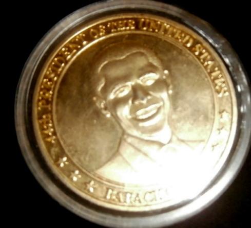 Obama on a Medal