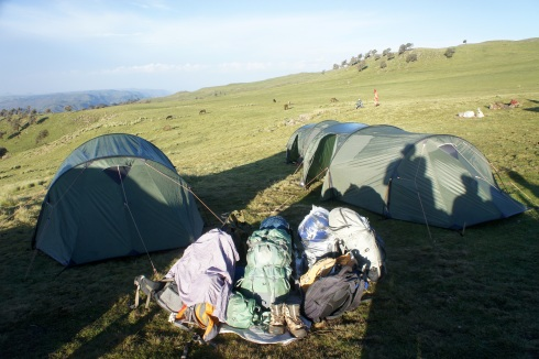 One of our camps. Rained heavy that night!