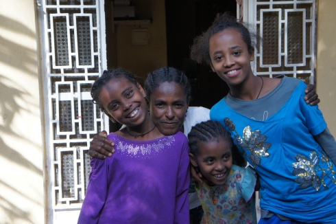 girls with their house mother at Tsehaytu Shelter