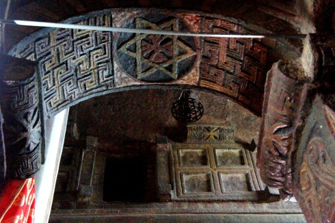 some amazing carvings and an old Star of David. There is a lot of connection to Jewish history in Ethiopia