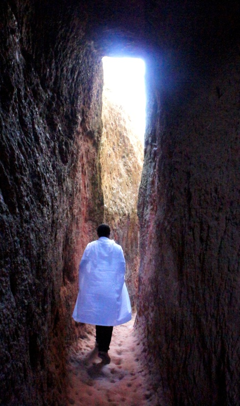 through the trenches of Lalibela