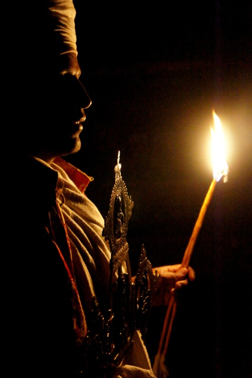 Yemrehanna Kristos by candelight