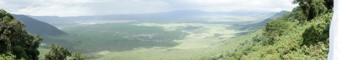 Panorama of Ngorogoro Crater