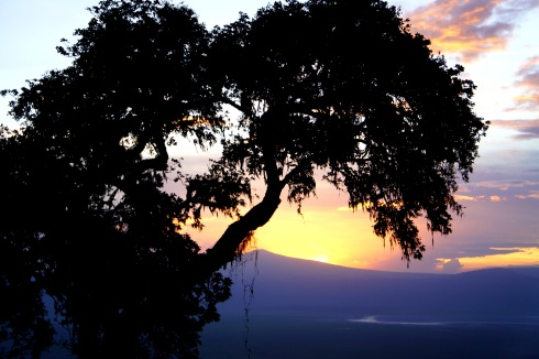 Sunset over Ngorogoro
