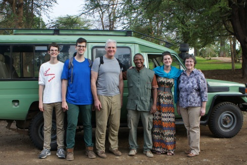 the family with our guide Sadiki