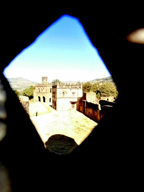 through the peephole