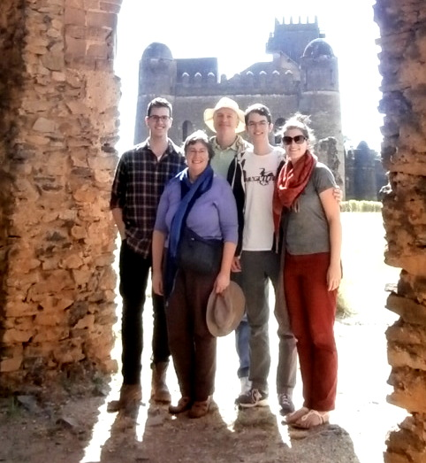 The Fam at the Fasil Castles