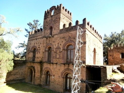 Queen Mintwab's castle, she later moved to Quasquam near the Gondar University hospital