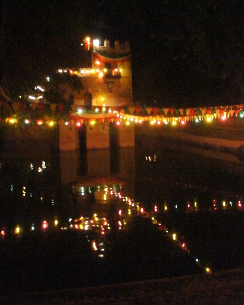 Fasil Bath at Night