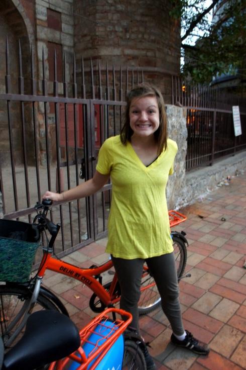 Alyssa excited to go biking