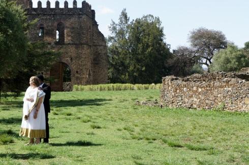 Engagement photos at the Gondar Castles