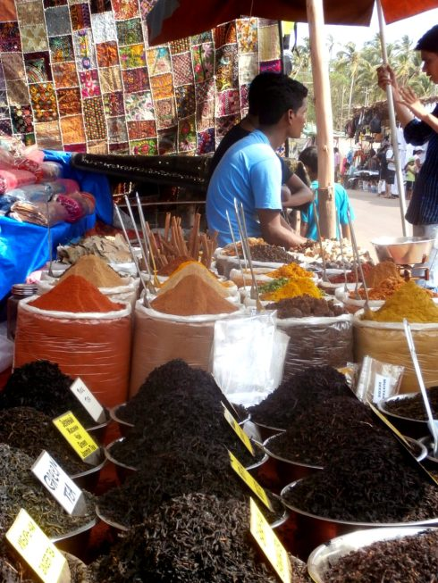 Giant flea market in Anjuna