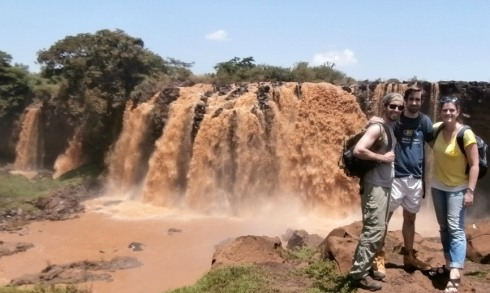 Keith, John, and I at Blue Nile Falls