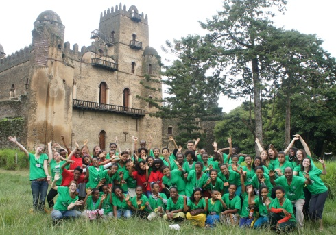 The group at the Gondar Castles