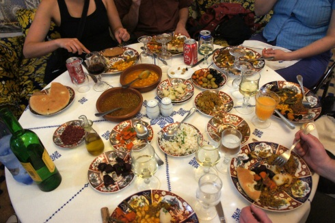 a family meal - pastilla for dinner