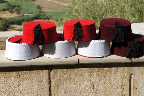 Fez hats in Fes