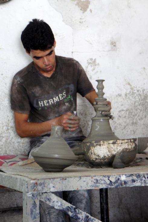 kick wheel pottery
