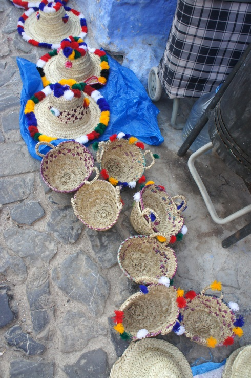 traditional hats with pom poms :)