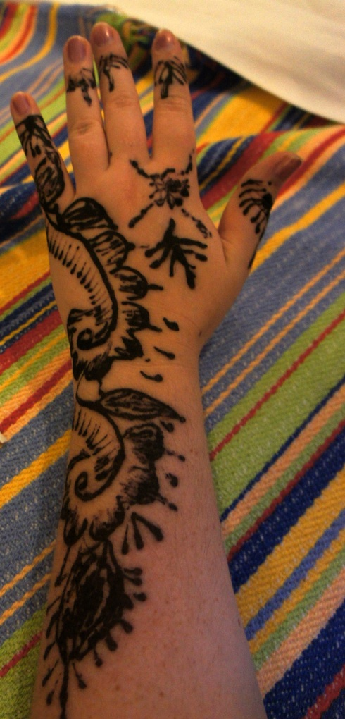 Got my henna on... still visible! though fading