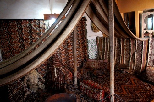 a traditional berber tent