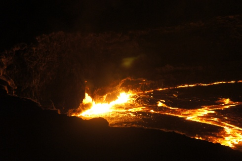 The lava lake!