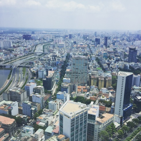 A skyline view of Ho Chi Minh from its tallest building