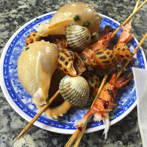 Conch, shrimp, mussels, clams, snails, squid teeth - you name it, we tried it, and loved it.