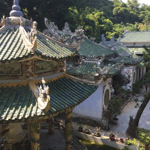 At Marble Mountain, a huge complex of pagodas and temples.