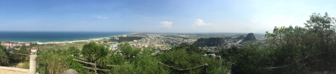 At the top of Marble Mountain, spectacular views of DaNang and the coast.