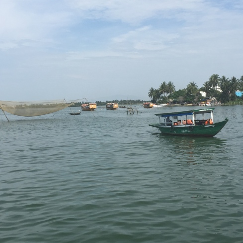 Fishing boats off the coast of Hoi An.