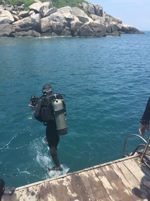 SCUBA diving around the Cham Islands.