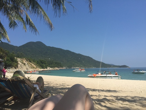 A lazy afternoon on one of the Cham Islands.