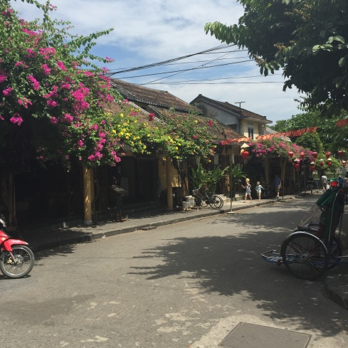 Beautiful streets in old town Hoi An.