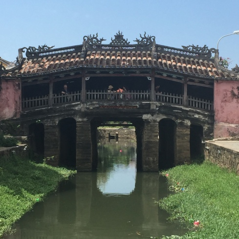The Japanese covered bridge that connected the old Japanese town with the Chinese side.