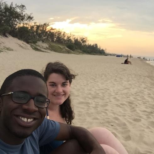 Sunset on An Bang Beach.